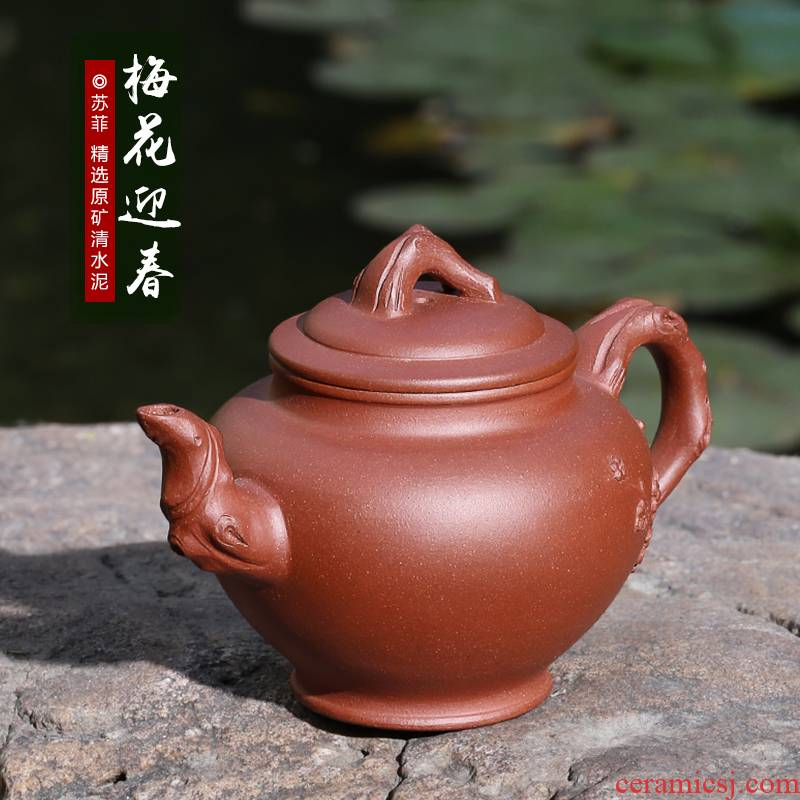 Mingyuan tea pot of yixing masters are it pure manual undressed ore the qing cement high - capacity teapot tea set the teapot