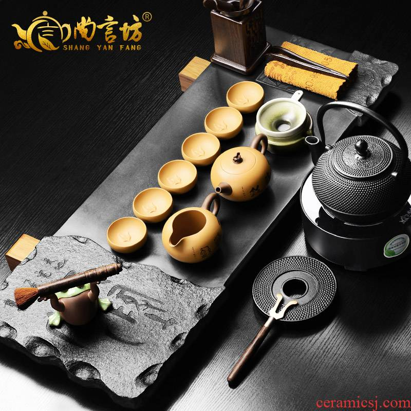 It still fang sharply stone tea tray was violet arenaceous kung fu tea sets suit household contracted and I stone tea tray