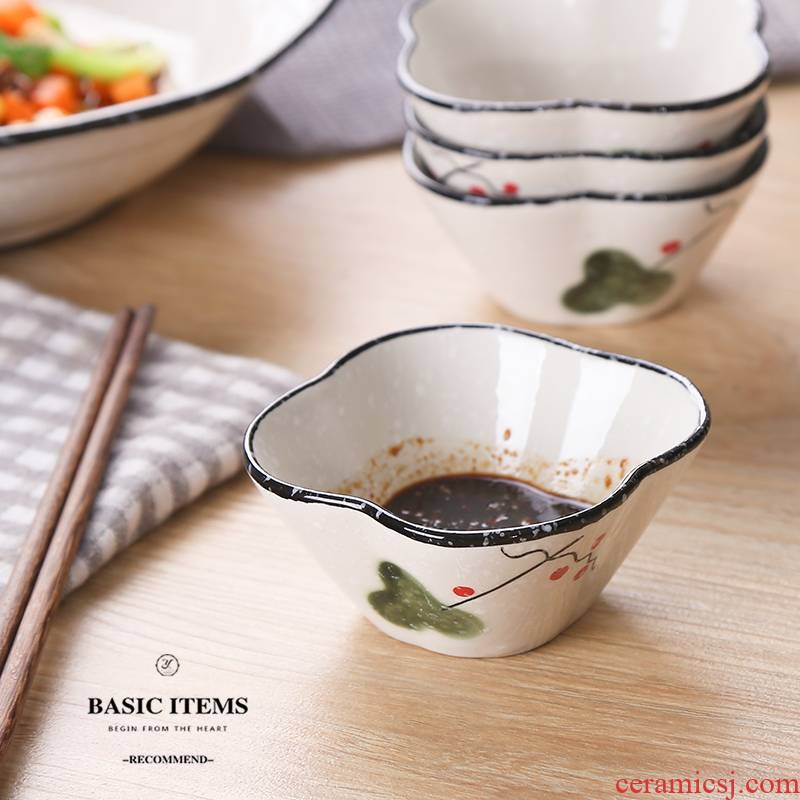 Japanese ceramics creative household utensils sauce vinegar dish dish dish of soy sauce taste dishes flavor dish snack bowl of small bowl
