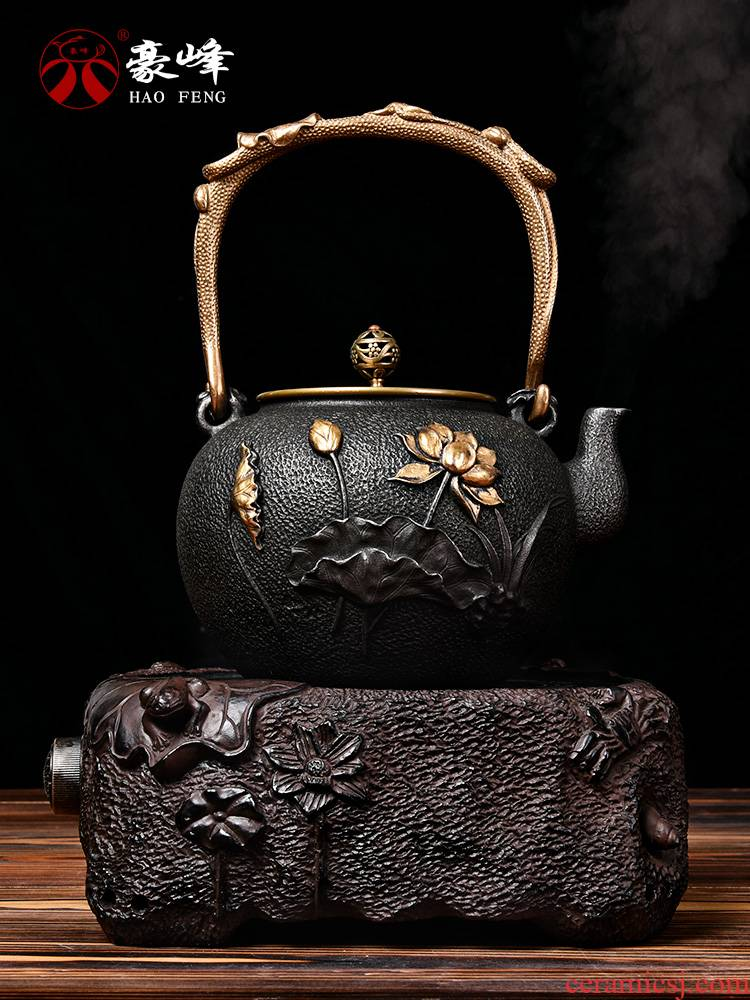 HaoFeng iron pot of boiled tea ware kung fu tea set home tea machine automatic electric TaoLu boiled tea stove teapot