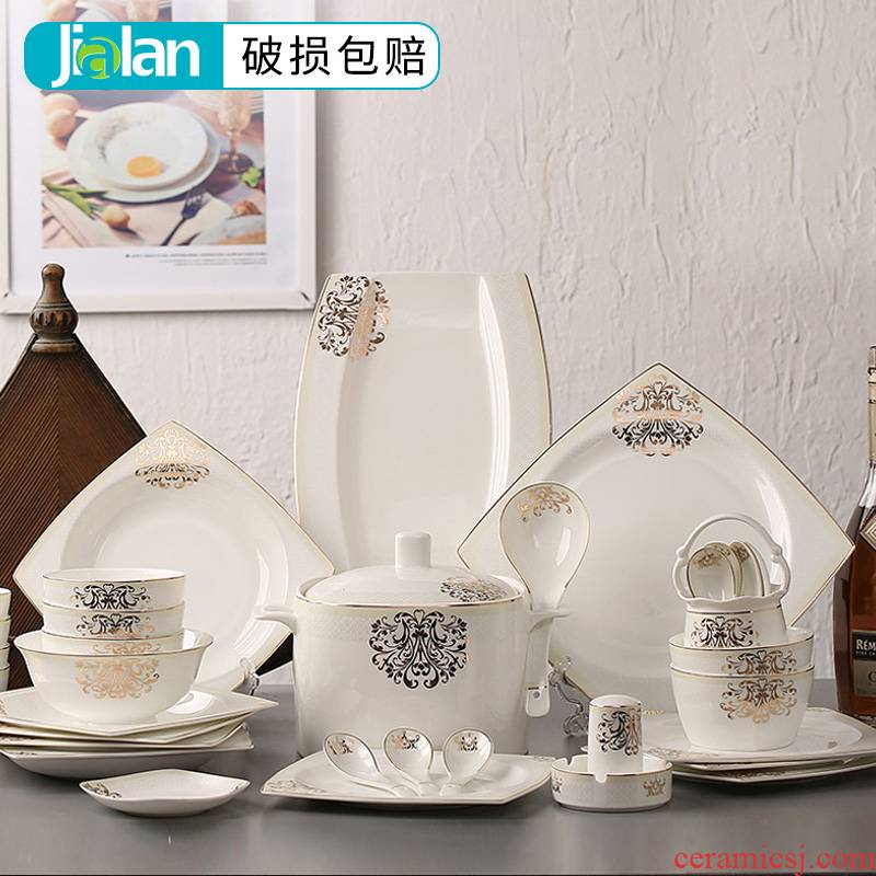 56 the head garland ipads porcelain tableware suit dishes tableware ceramic dishes suit to use chopsticks combination wedding gift boxes