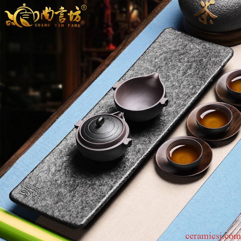 It still fang stone tea tray was kung fu tea set sharply stone tea tray was leaf tea tea tray was stone sea canoe