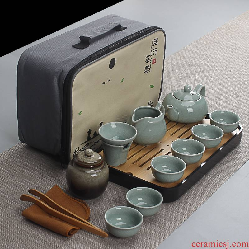 Travel tea set portable brother suits for your up up household contracted kung fu tea cup teapot outdoors Travel bag
