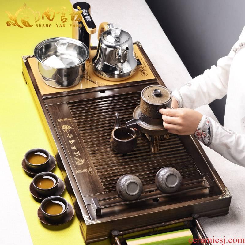 It still lane solid wood tea tray, four unity kung fu tea set accessories saucer dish drainage tea sets tea sea
