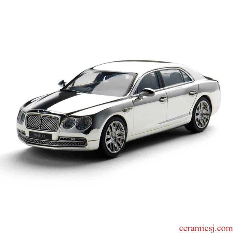 Beijing shang Kyosho 1:43 simulation models base alloy electroplating silver version bentley new go the display box