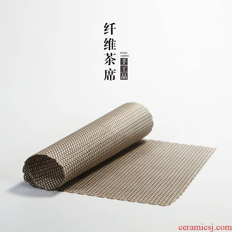 Kung fu tea tea tea tray spare parts in building protection mat tea table fine bamboo fiber wear - resistant curtain