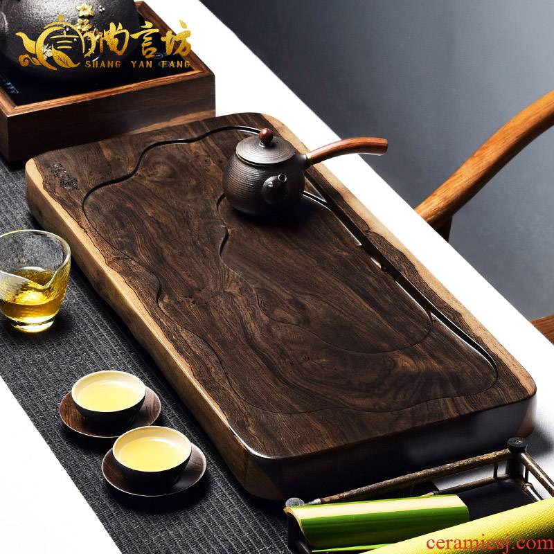 It still fang consolidation piece of ebony log contracted solid wood tea tablet tea saucer large kung fu tea tea