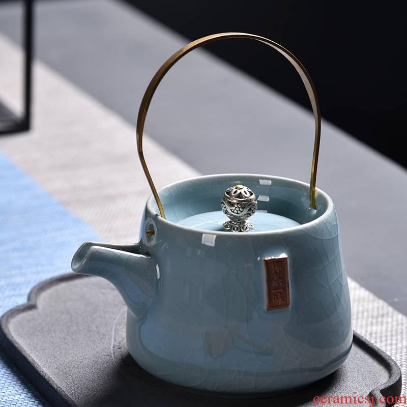 Hong bo the best small girder pot of archaize coarse pottery cooking pot pu - erh tea tea kettle single pot of Japanese kung fu tea set