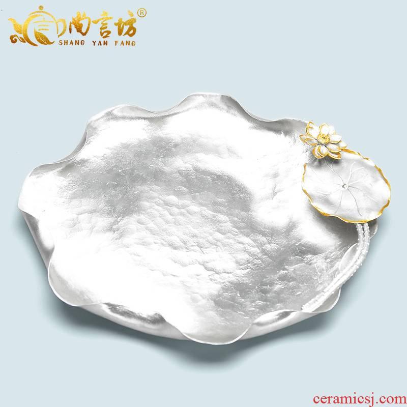 It still fang Taiwan tea tray manually Japanese tin tray was contracted mini tea tea set spare parts