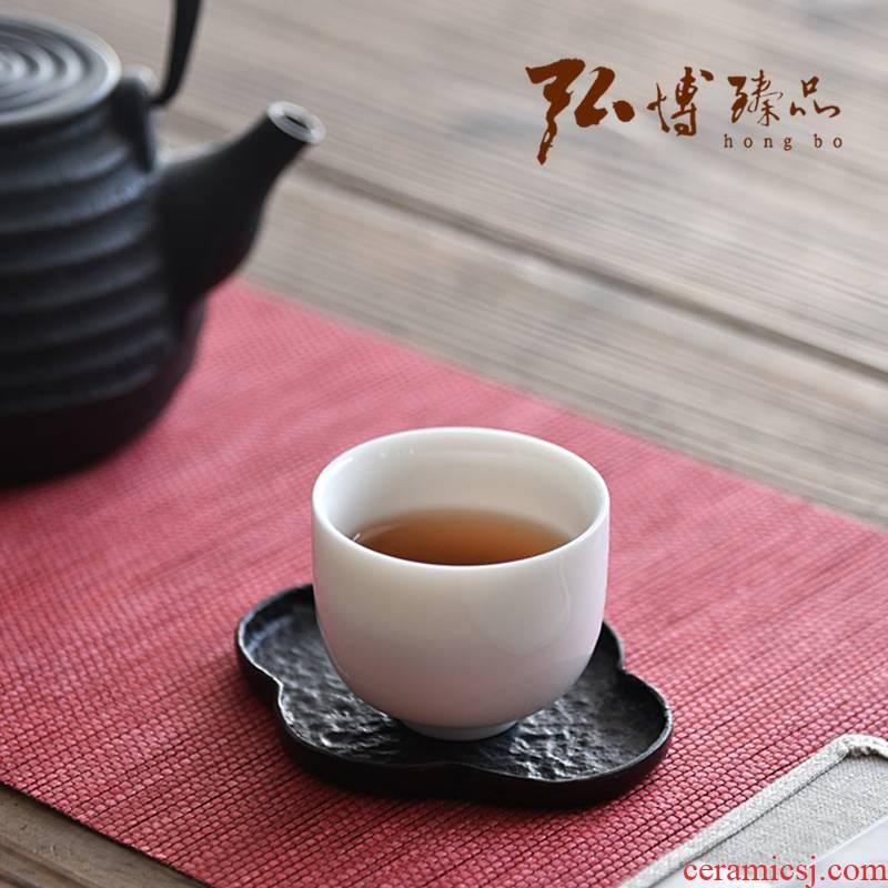 Hong bo need dehua white porcelain teacup jade porcelain sample tea cup individual cup of kung fu tea set single cup tea master CPU