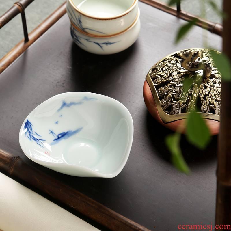 Hong bo acura hand - made tea holder is kung fu tea tea tea taking with zero accessories