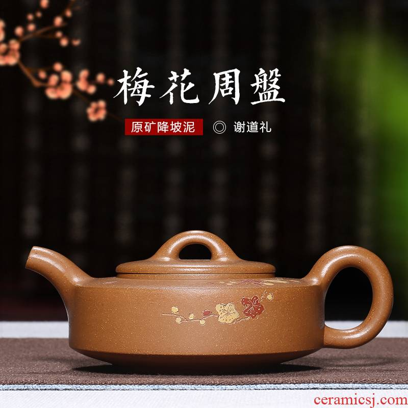 Mingyuan tea pot of yixing are it by pure manual undressed ore down slope mud name plum Zhou Pan kung fu tea set the teapot