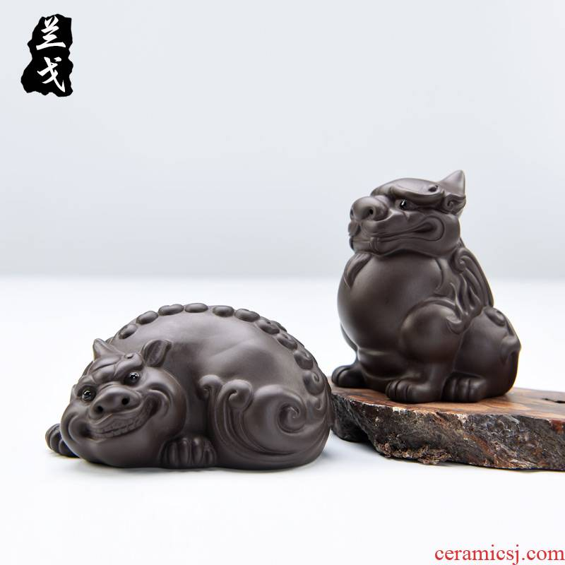 He undressed ore purple sand tea pet kung fu tea zhu mud play furnishing articles furnishing articles can keep manual creative plutus tea