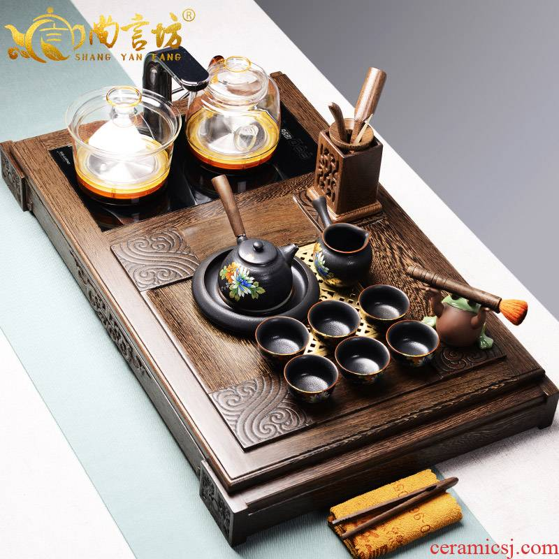 It still fang tea tray sets electromagnetism one household intelligent automatic water kung fu tea tea tea tea table
