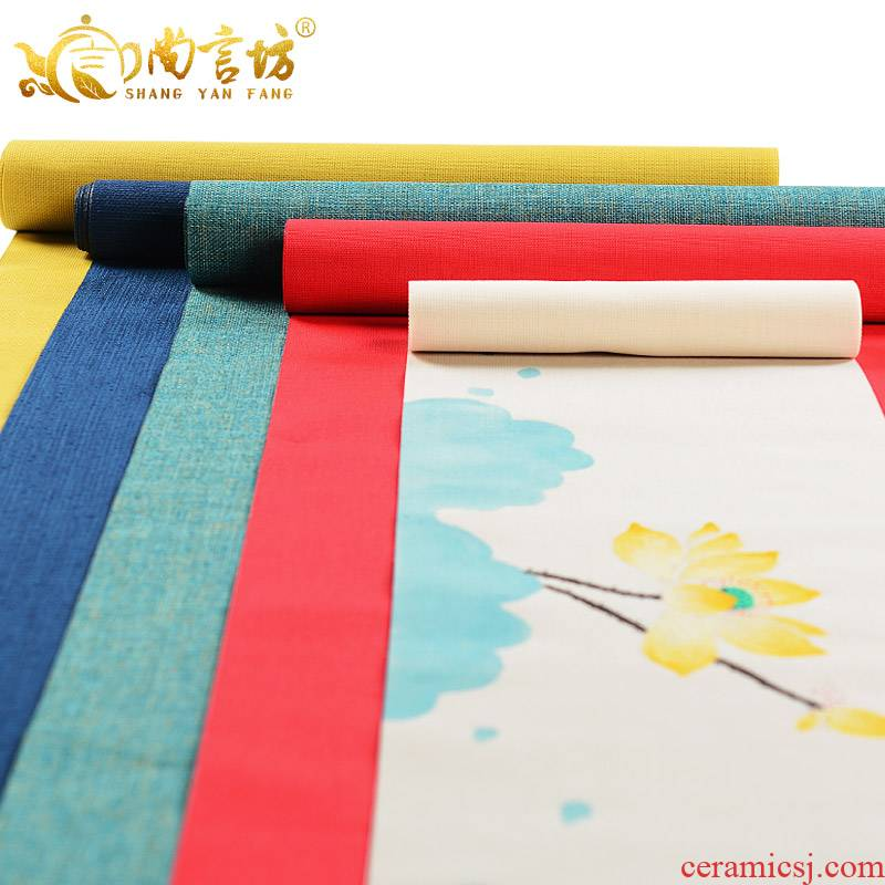 It still fang waterproof Taiwan tea table cloth art hand - made zen cotton and linen cloth table flag of Chinese style tea towel tea accessories