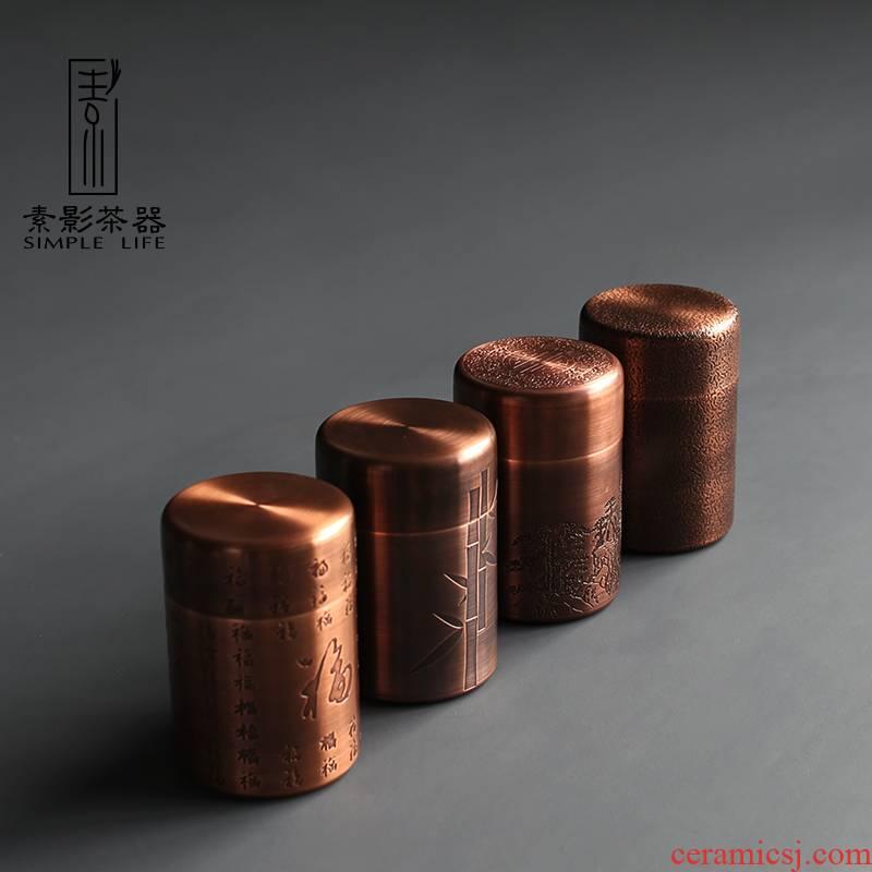 Plain film buford copper trumpet classical copper POTS storage retro metal tea caddy fixings warehouse and tea pot
