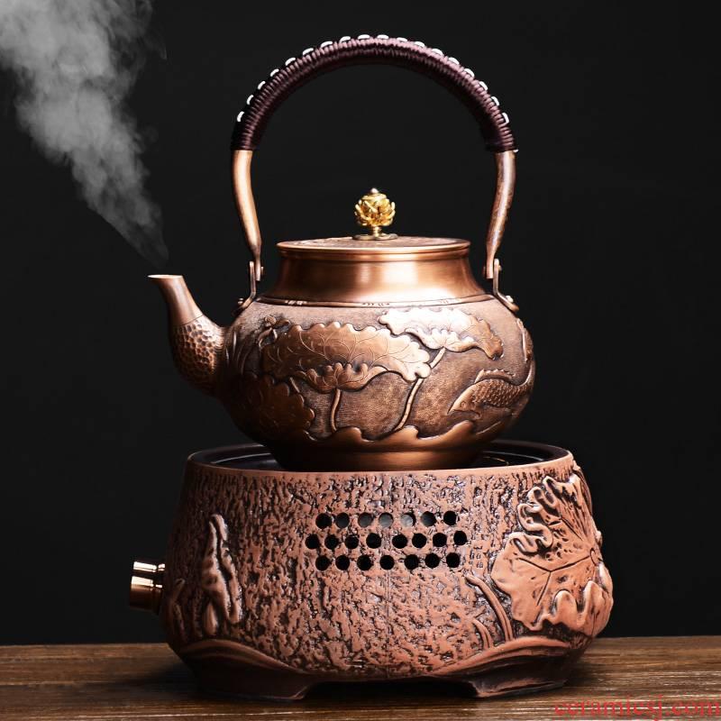 It still fang plates kettle domestic copper pot boiling kettle manually restoring ancient ways of make tea tea machine electricity TaoLu furnace