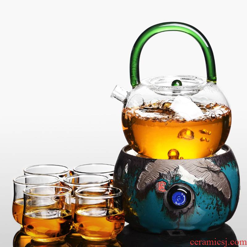 It still fang glass cooking pot pot of black tea scented tea kettle to girder teapot heat resisting high temperature resistant glass teapot