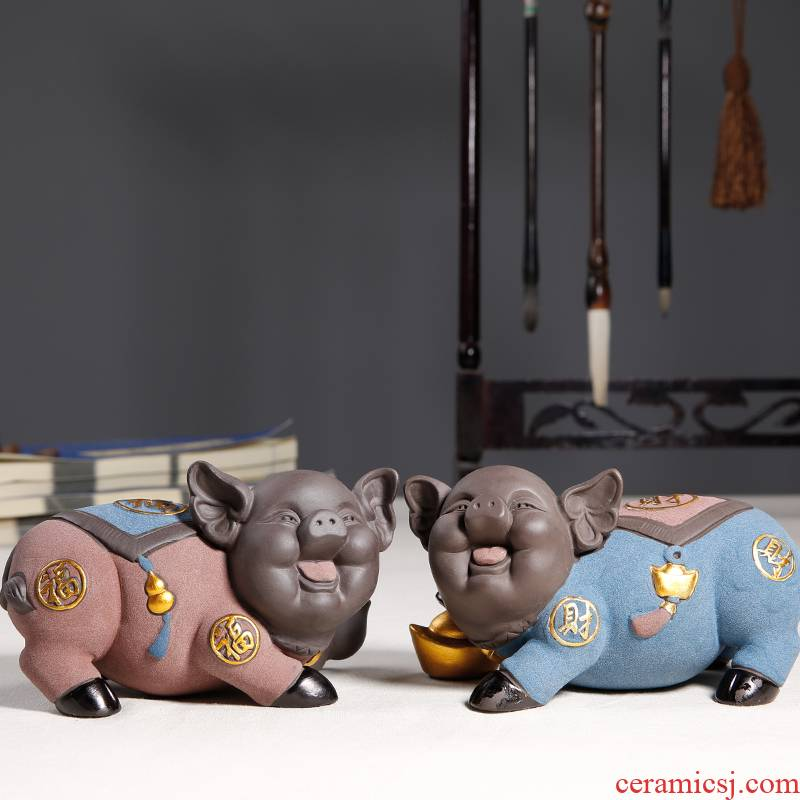 """JiaXin see colour sand tao qian """"get lucky pig furnishing articles and originality of the ceramics holiday gift blessing pig"""