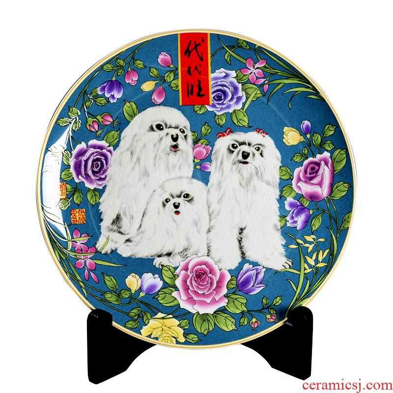 2018 zodiac dog decoration home furnishing articles handicraft feng shui decorative ceramic gift lovely mascots