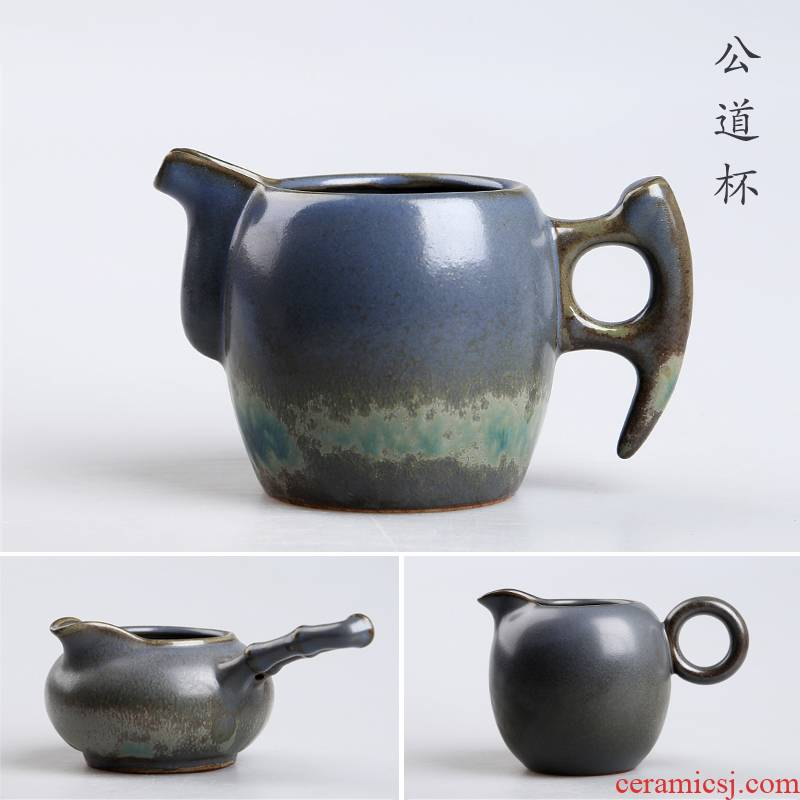 Hong bo gourmet element TaoHaiYang billow ceramic teapot side round the pot of machetes pot pot of creative side to justice cup the teapot