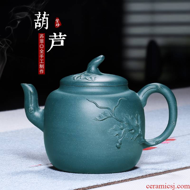 Mingyuan tea pot of yixing pure manual famous authentic chlorite gourd it kung fu teapot tea set of the republic of China