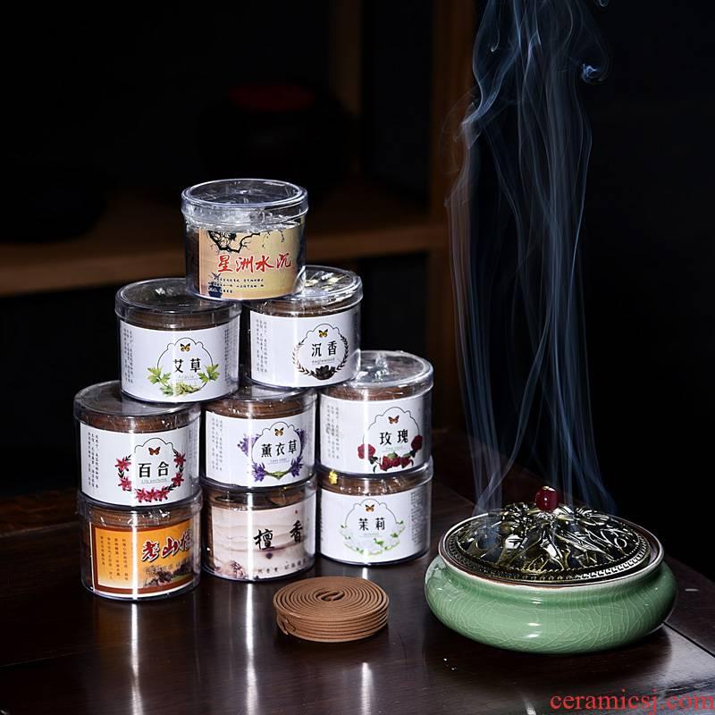 Censer household indoor incense buner furnishing articles present mosquito incense buner incense, tower incense ta disk present ceramic fuming furnace