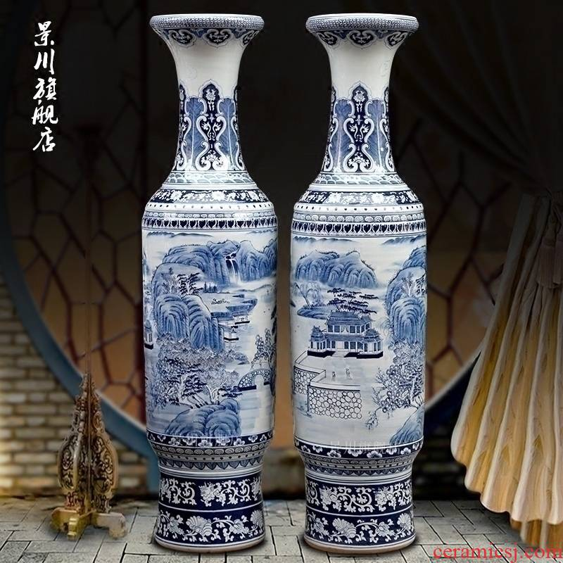 Jingdezhen porcelain ceramic hand - made antique vase splendid sunvo landing big home sitting room hotel decoration furnishing articles