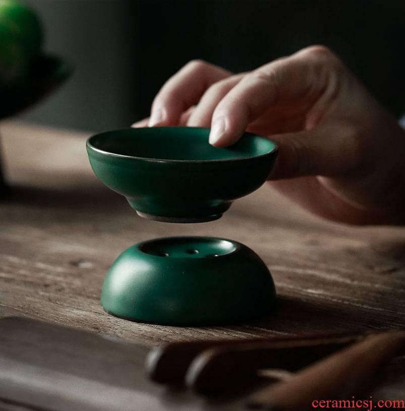 ShangYan ceramic) filter kung fu tea tea set zero restoring ancient ways with the tea strainer tea strainer Japanese tea strainer