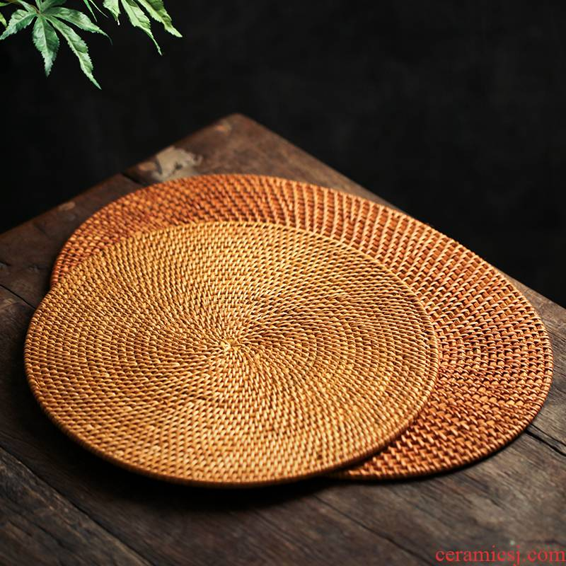 One insulation kung fu tea set the cane top service up the eat mat table dry bamboo tea tray coasters dishes dishes teapot