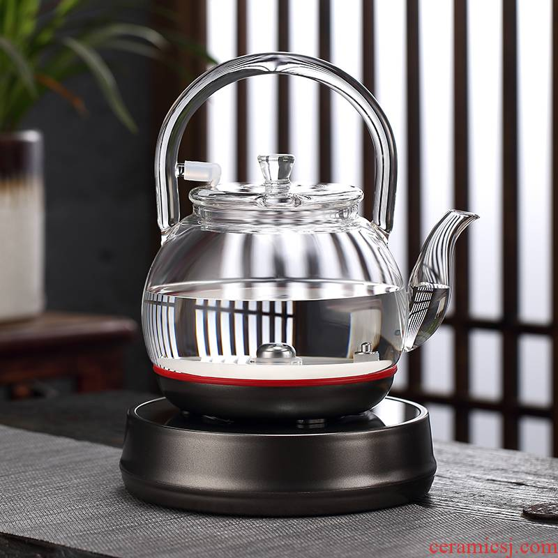 Morning high transparent glass kettle automatic water tea special tea sets electric boiling kettle