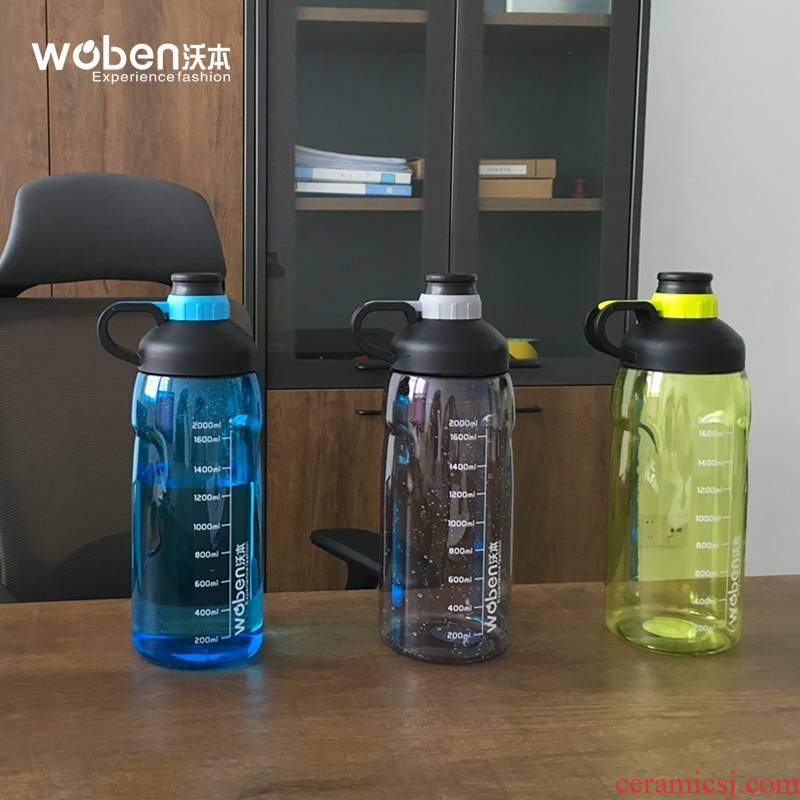 Large capacity space cup series guest outdoors travel 2000 ml tea kettle plastic Large glass bottles