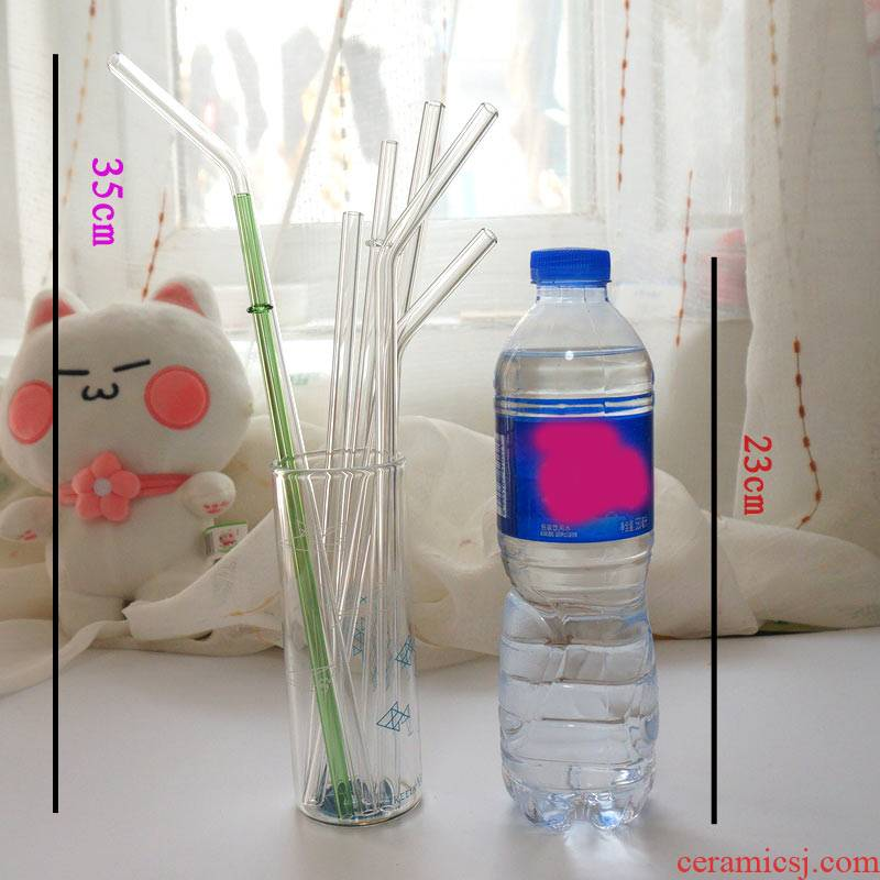 The General super - long one - time lazy long straws straw not adult accessories milk tea drinking glass heat - resisting straws