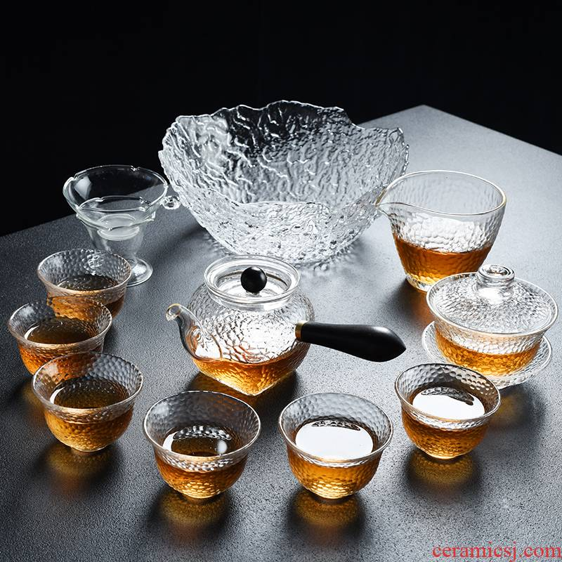 Howe auspicious contracted heat resisting high temperature glass boiled tea Japanese teapot tea kung fu tea tea set home