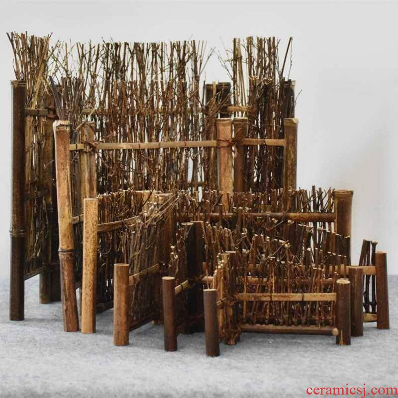 Natural bamboo bamboo has by hand small tea table decoration furnishing articles purple bamboo fence fence screen kung fu tea taking with zero
