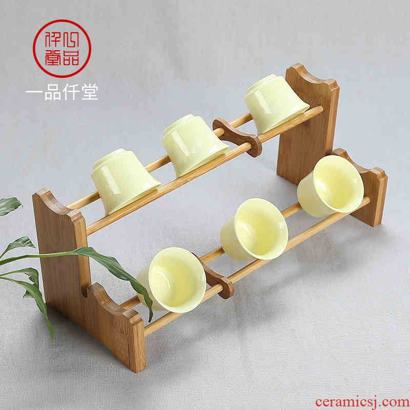 Yipin # $kung fu tea accessories tea tea tray bamboo cup tea double crossover vehicle