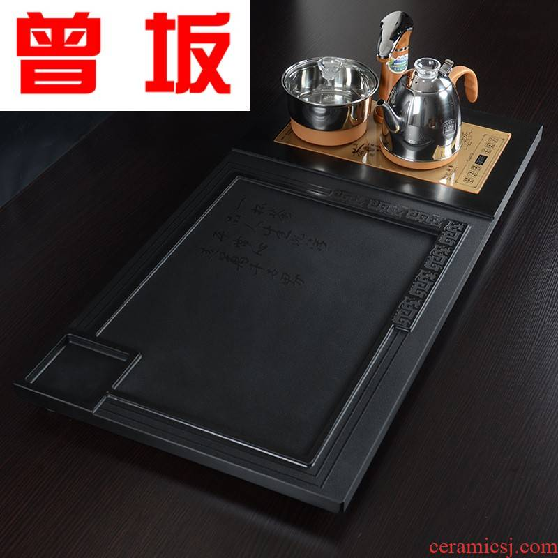 Once sitting on the whole piece of ancient sharply stone tea tray tea set four golden combination automatic water and electricity