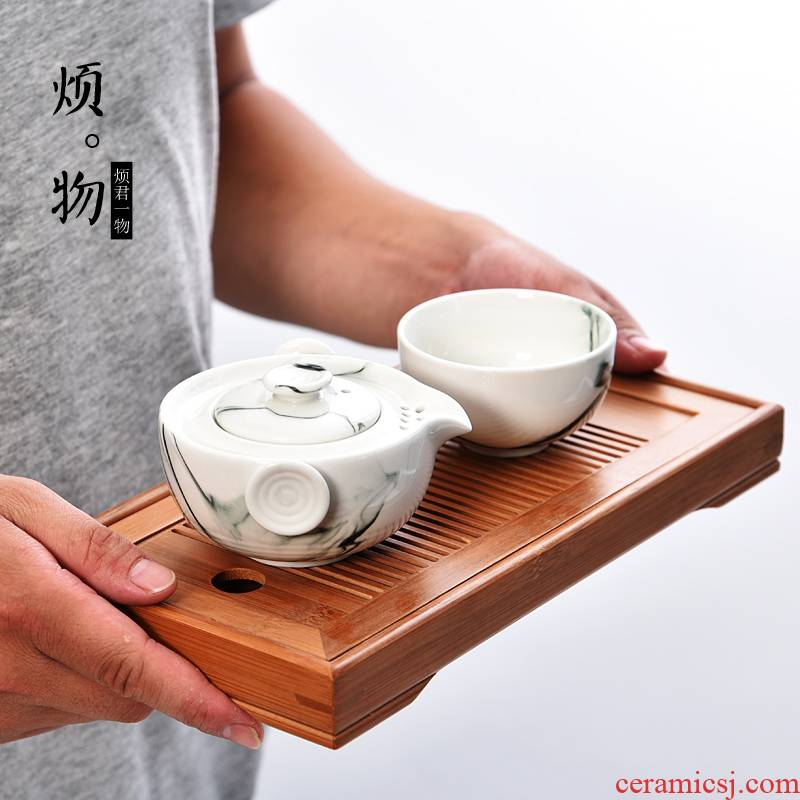 Old &, ceramic cup to crack a pot of a portable receive package travel kung fu tea set office home