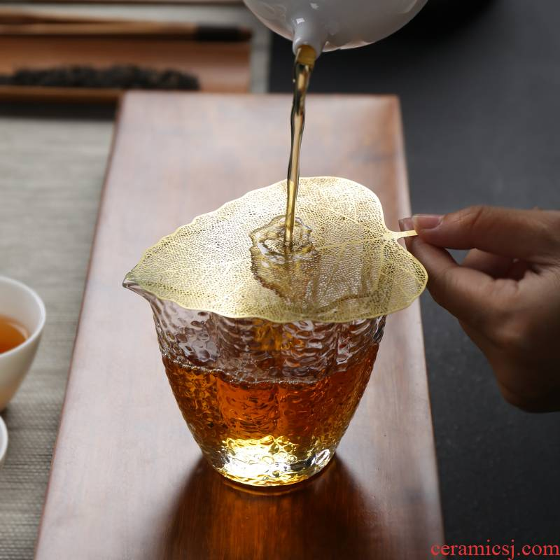 Poly real (sheng pure copper filter filter bodhi leaf) filter tea leaves kung fu tea set spare parts