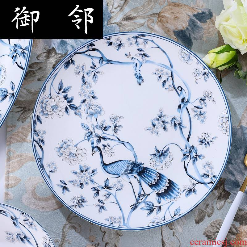 Propagated jingdezhen ceramic tableware home dishes suit to use bowls of ipads plate suit gift set