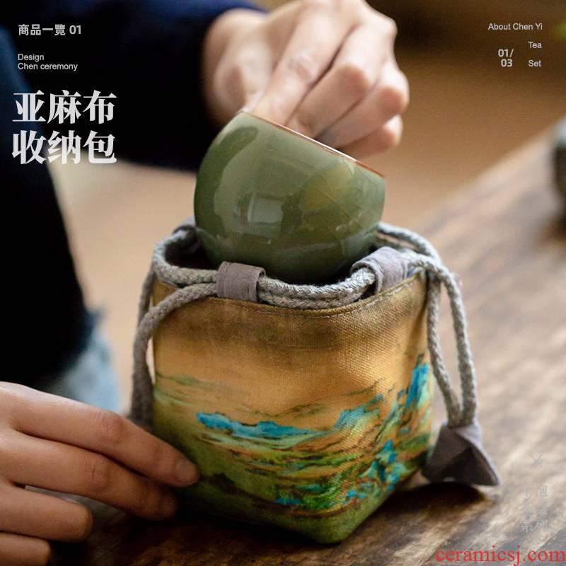 Tea bag noggin the receive travel bag portable bag single cup sample Tea cup kung fu Tea bag accessories