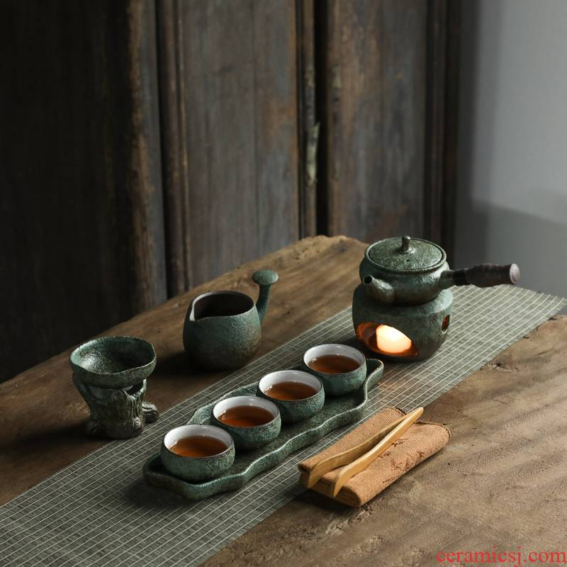 Old at restoring ancient ways, the awaken of spring thick ceramic Japanese dry teapot teacup mercifully kung fu tea set side of a complete set of gift boxes