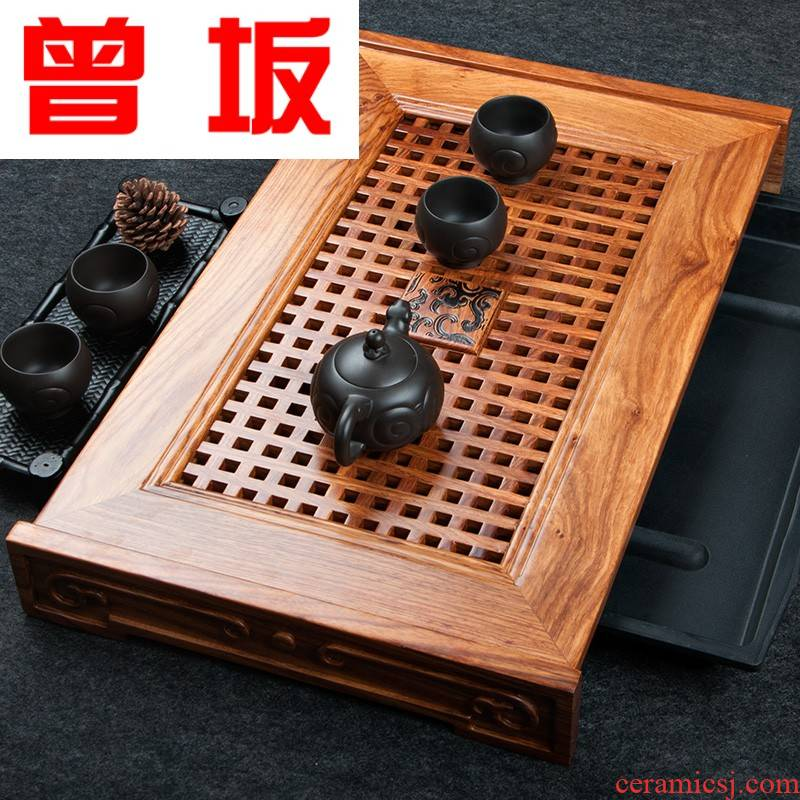 The Who -- tea huang hua limu tea sets tea tray was dry solid wood household utensils suit saucer dish kung fu mercifully