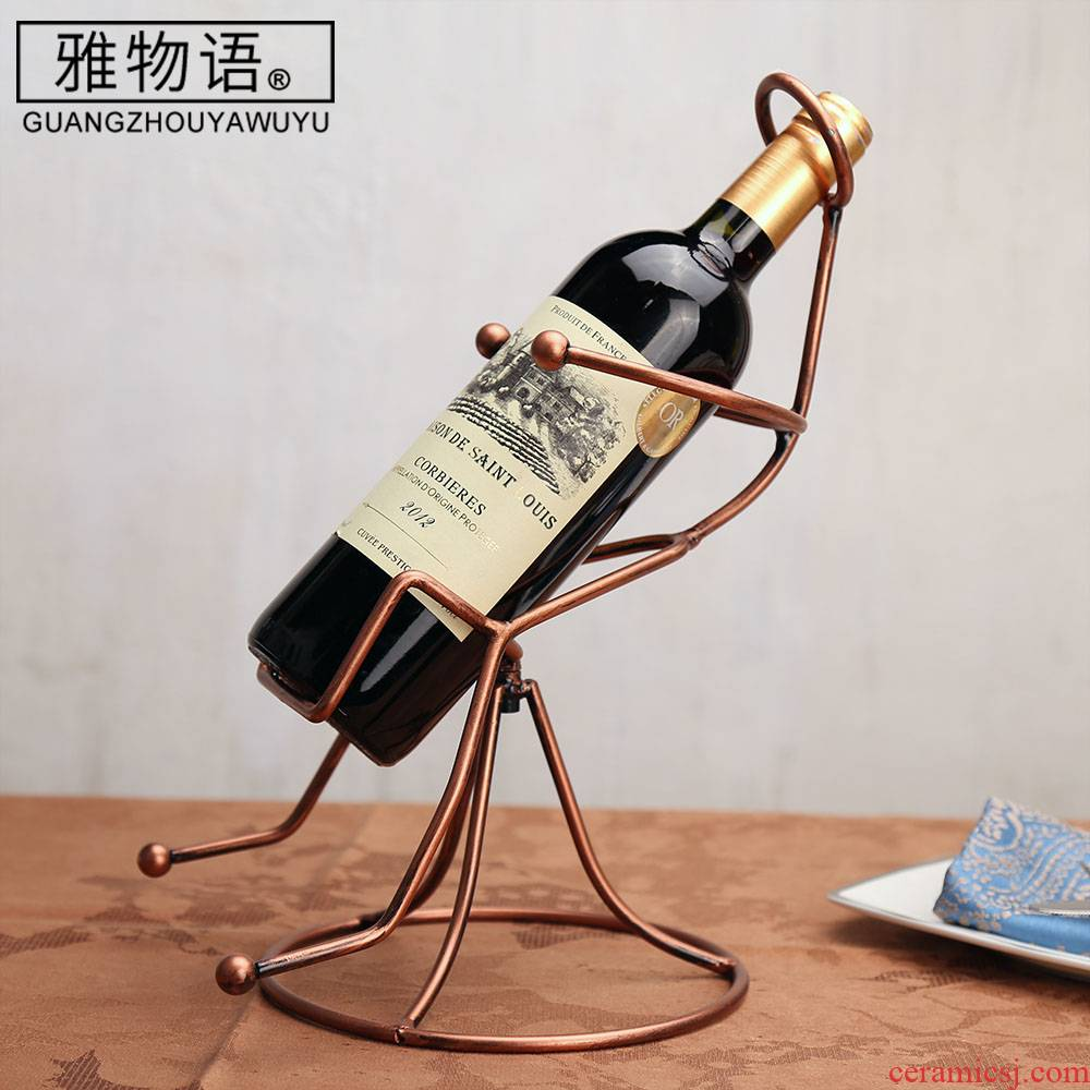 Jas monogatari humanoid seat furnishing articles creative display bottle red wine red wine rack frame home European wine rack