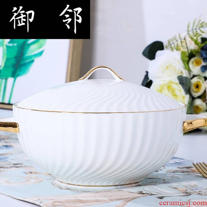 Propagated I and contracted ceramic tableware of pottery and porcelain gift set gift wedding suit activities in return