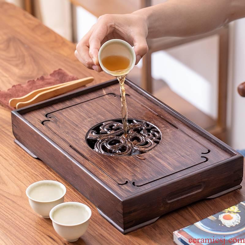 Bamboo tea tray was simple tea table circular storage disk small dry mercifully tea sea contracted saucer home kung fu tea set