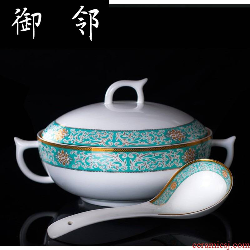 Propagated 58 skull porcelain of jingdezhen ceramics tableware dishes suit household to eat bread and butter dish bowl chopsticks