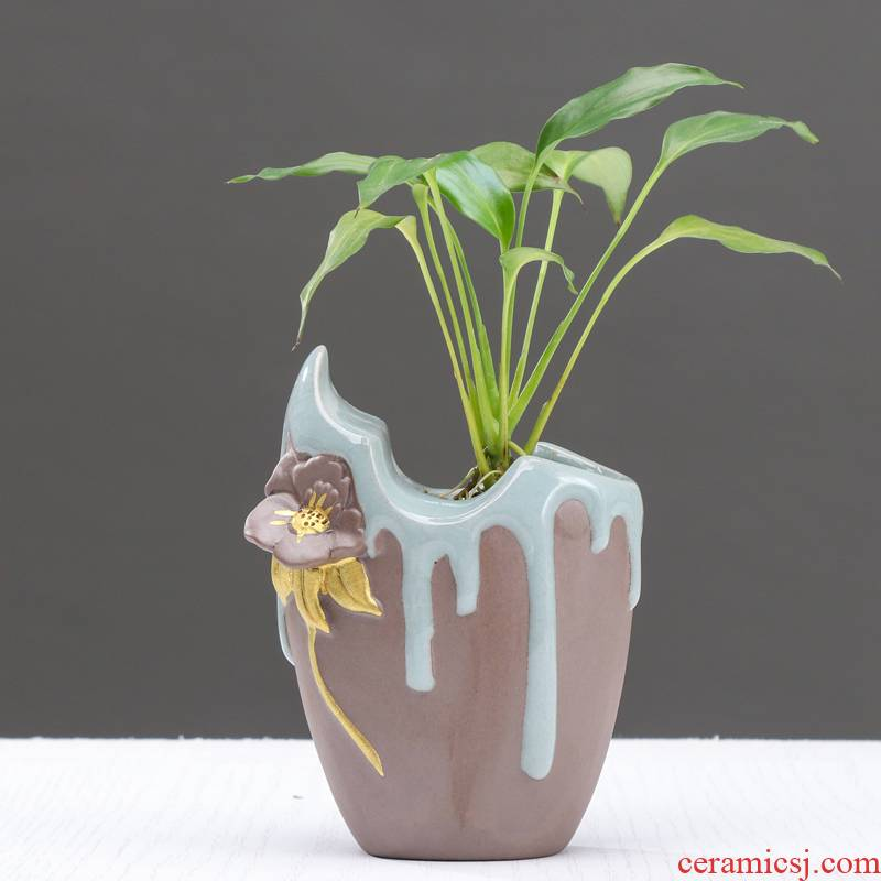 Contracted and creative move anthurium hydroponic vases, ceramic water restoring ancient ways to raise money plant flower pot the plants flower ware the desktop