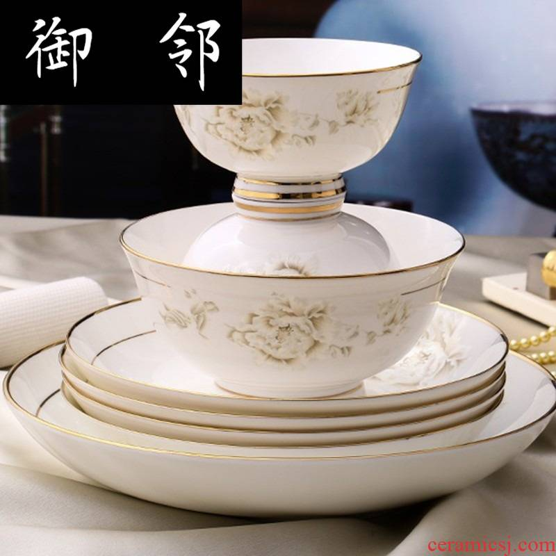 Propagated 60 first bowl of jingdezhen ceramic plates suit glair ipads porcelain tableware to my wife