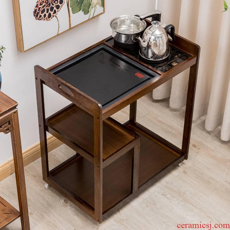 Tea tray was one Tea kettle ano car sharply stone mobile home pulley boil water solid wood balcony Tea Tea Tea table